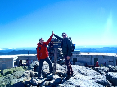 Celebrating those achievements of a job well done are more fun when you have someone to share them with. - Mt Washington Summit with my Dad