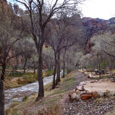 Bright Angel Trail Campground in Feb. Normally this would be jammed packed. We had the pick of the lot.