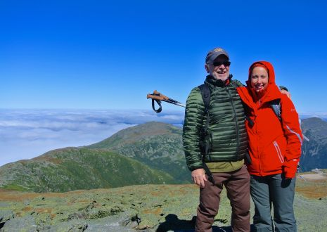 My dad and I, celebrating our victory of making it to the summit.. with our own two feet !