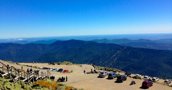 Use your imagination to crop out the parking lot of this amazing shot from the top of Mt. Washington.