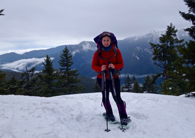 Enjoying another winter backpacking trip in the Olympics