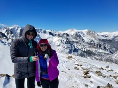 Making memories and sipping wine with great friends on Flat Top Mountain