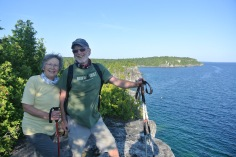 Sharing a special place with my family, Tobermory Ontario