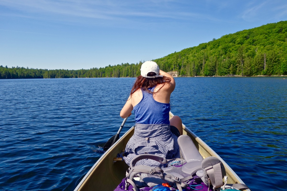 A Backcountry Canoe Trip in Algonquin's Interior.  Algonquin Provincial Park, Ontario.