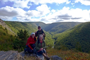 Summit of Meat Cove Mountain with my Parents, Cape Breton, NS, Canada