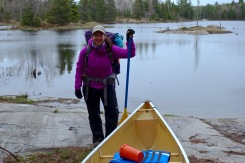Equipped with all the safety tools for a canoe trip.