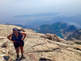 Reaching the summit of Disappointment Peak, Grand Teton National Park, WY