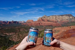 Cheers to friends and great trails in Sedona