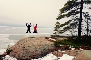 Snowshoeing, wine, and friends in Killarney Provincial Park