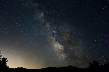 Night Sky over Longs Peak