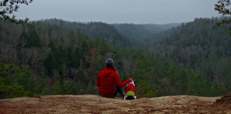 Sharing Christmas Eve with Ottis in the Red River Gorge