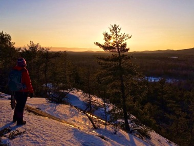 Winter Sunsets in Killarney Provincial Park